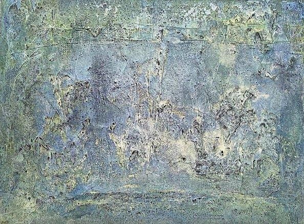 Ulrike Gaiser | Athmosphären 2 | Mixed Media auf Leinwand | 60 x 80 cm | 2020