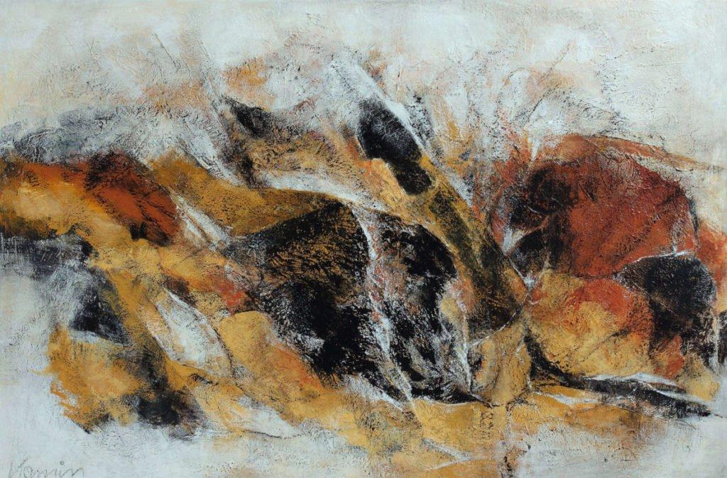 Heidi Kamin | Natur abstrakt | Mischtechnik auf Leinwand | 120 x 80 cm | 2020