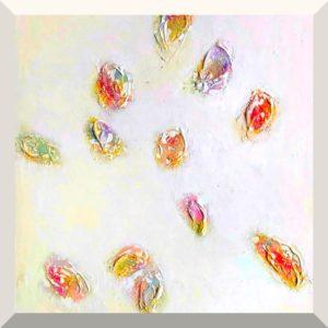 Gunda Jastorff | Colourful Oyster I | Mischtechnik auf Leiwand | 140 x 90 cm | 2020