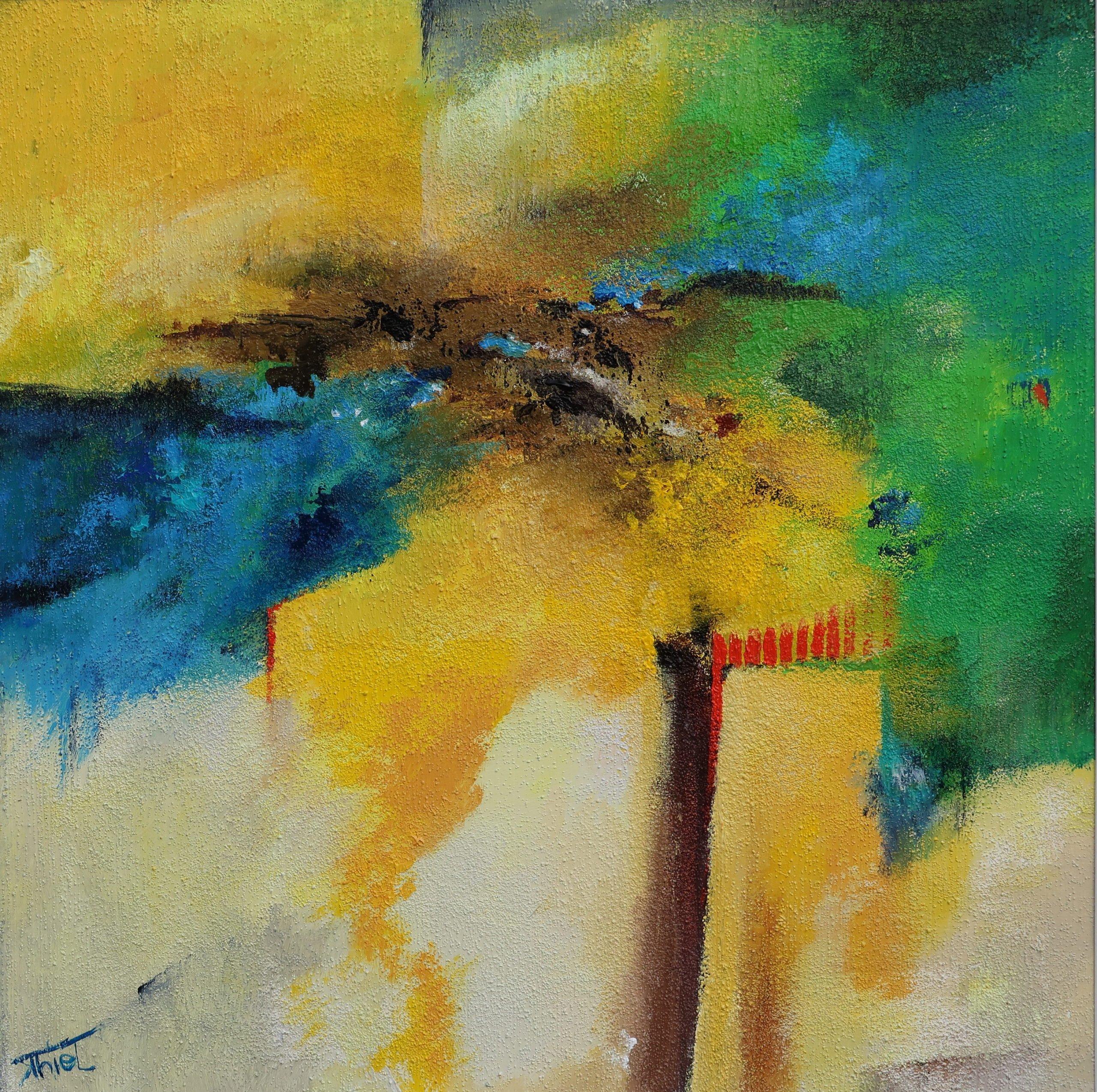Klaudia Thiel | Erinnerungsräume | Mischtechnik auf Karton | 40 x 40 cm | 2019