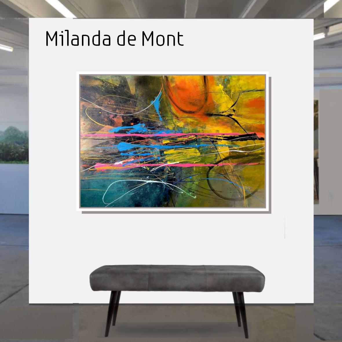 Maske_de_Mont_Blue surface_100x140cm_mit_Rahmen