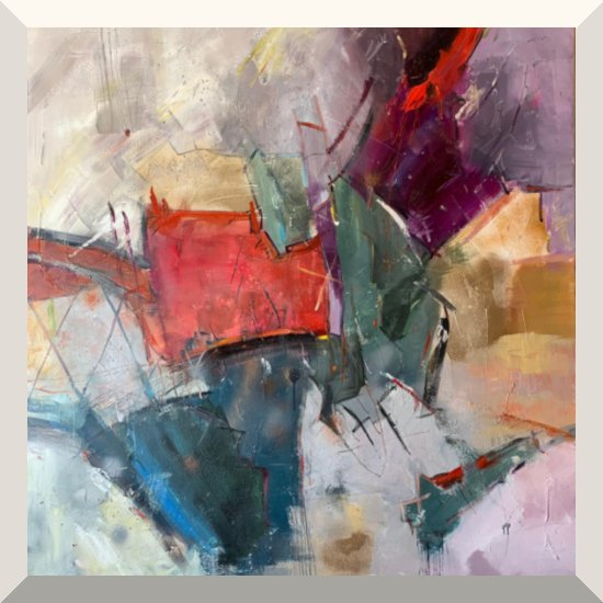 Elzbieta Slawinska | Nr. 122 | Öl auf Leinwand | 140 x 120 cm | 2019