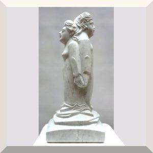Titus Reinarz | PAAR | Carrara Marmor | 67 x 28 x 28 cm | o.J.