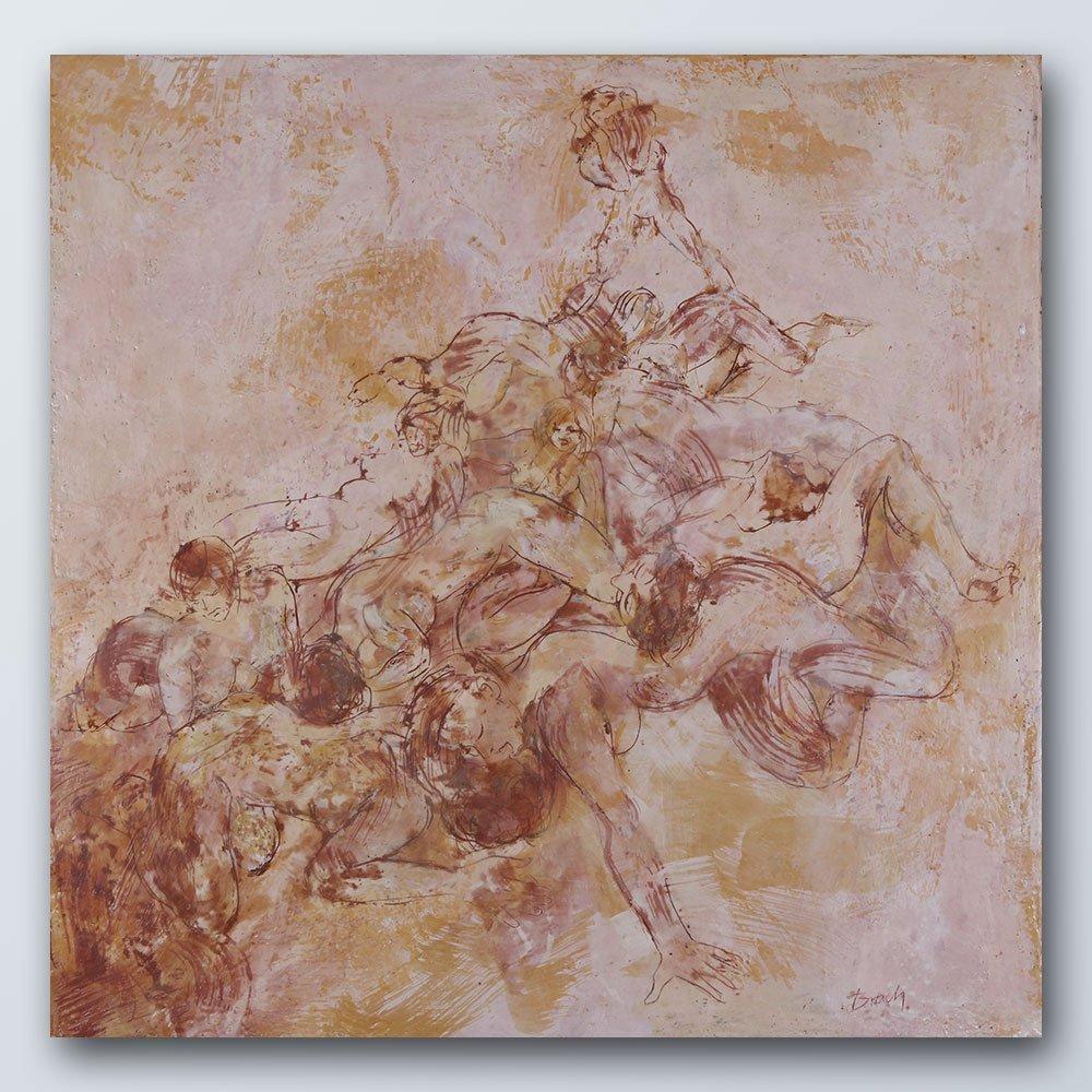 Heilvolles Durcheinander III | Wachs auf Holz | 100 x 100 cm | 2020