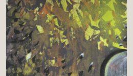 Kristina Breitenbach   Teatime   farbige Tusche, Kreide auf Papier   30 x 30 cm   2020