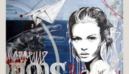 BUJA   Josephine   Mischtechnik auf Leinwand   150 x 160 cm   2019