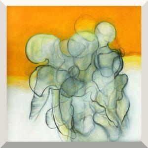 Manuela Lutz | Ohne Titel | Acryl auf Holz | 100 x 100 cm | 2020