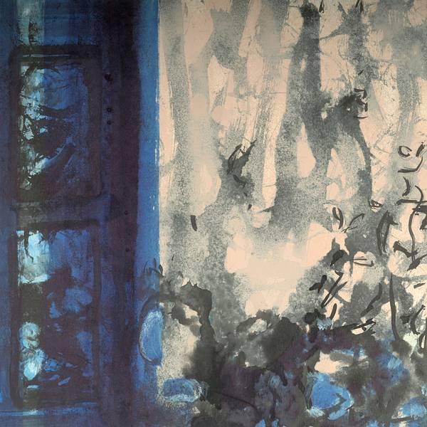 Kristina Breitenbach | Teatime | farbige Tusche, Kreide auf Papier | 30 x 30 cm | 2020