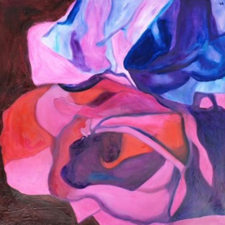 Ingrid Schiller | Rosenvariante XIX | Öl auf Leinwand | 80 x 80 cm | 2019