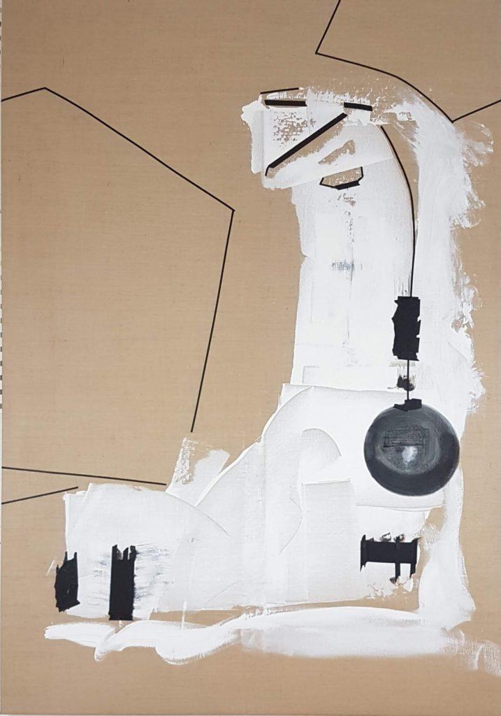 Sylvia von Bernstorff | o.T. | Acryl, Tusche, Tape auf Leinwand | 200 x 140 cm | 2020