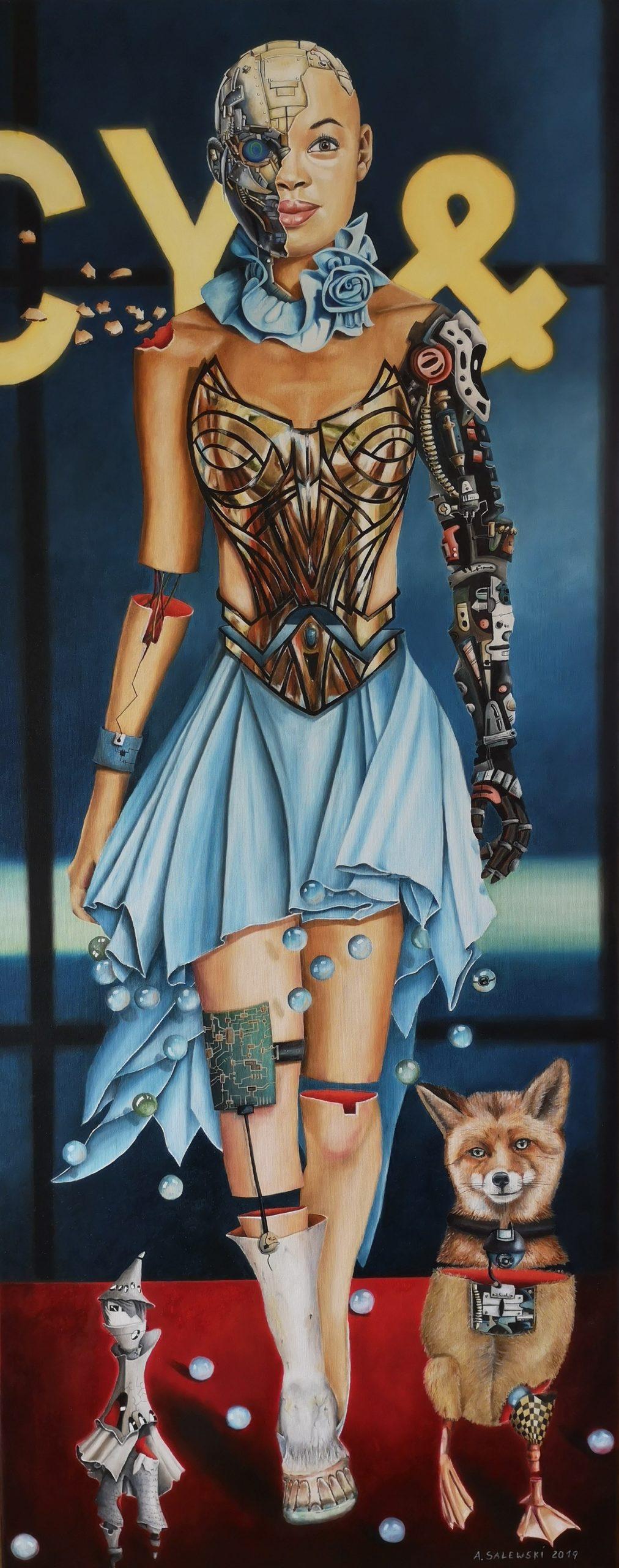 Astrid Salewski | It's fashion I | Öl auf Leinwand | 60 x 150 cm | 2019