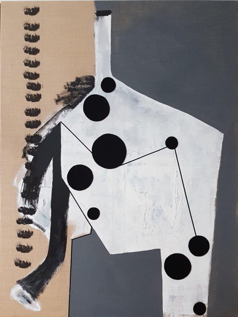 Sylvia von Bernstorff | Motion | Mixed Media auf Leinwand | 160 x 120 cm | 2020