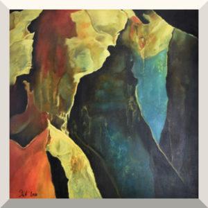 Patricia Knobloch | Mesozoikum I | Öl auf Leinwand, lasiert | 60 x 60 cm | 2011