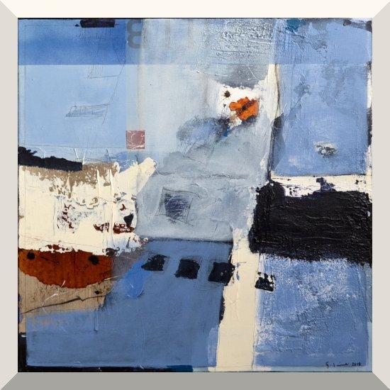 Gerhard Lämmlin | Mischtechnik auf Leinwand | Harmony in Blue | 60 x 60 cm | 2019