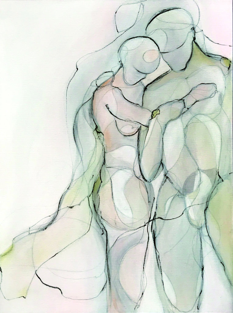 Manuela Lutz | La Grazia - Die Anmut | Acryl auf Leinwand | 80 x 60 cm | 2019