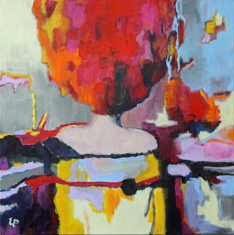 Utaellamarie Peter | Marsha | Acryl auf Leinwand | 60 × 60 cm | 2020