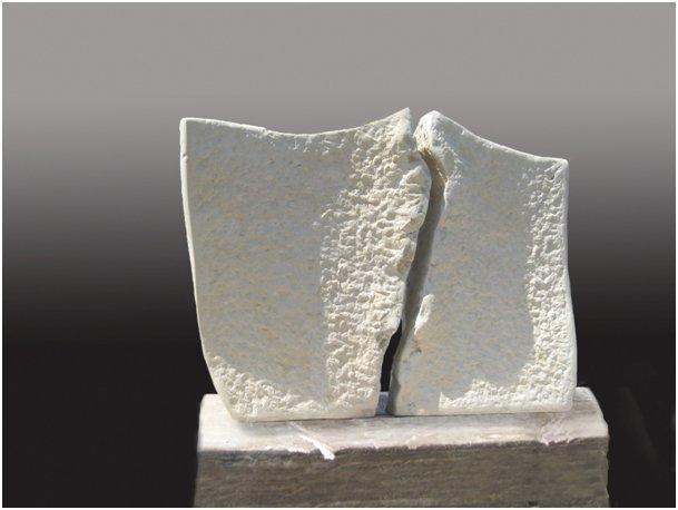 Kathrin Gordan | Paar | Kalkstein | Höhe ca. 34 cm | 2011