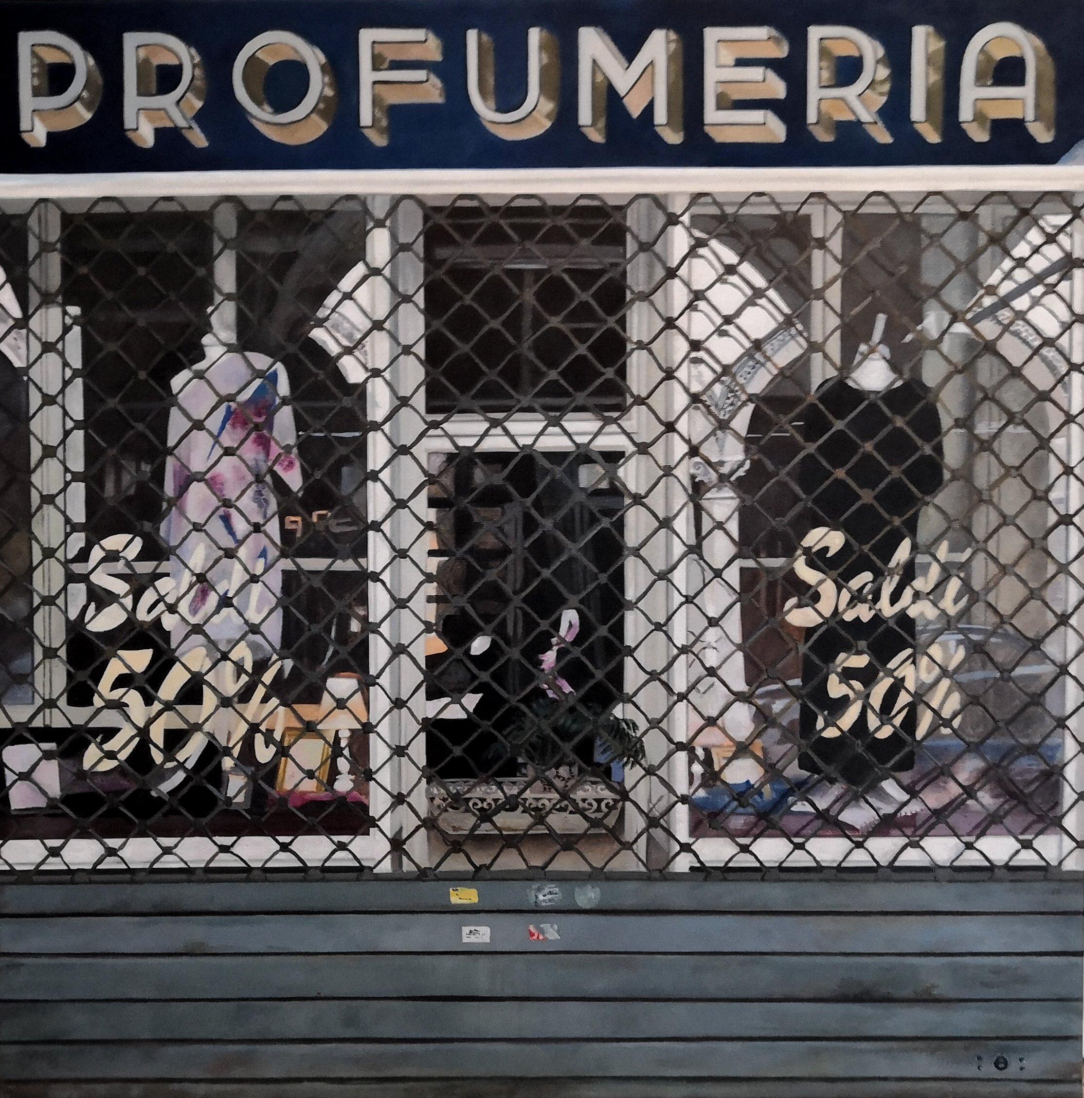 Anke Rohde | Profumeria | Öl auf Leinwand | 60 x 60 cm | 2019