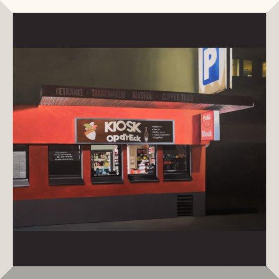 Anke Rohde | Kiosk Köln | Öl auf Leinwand | 90 x 110 cm | 2020