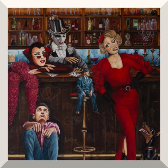 Astrid Salewski | Feierabend | Öl auf Leinwand | 160 x 100 cm | 2019