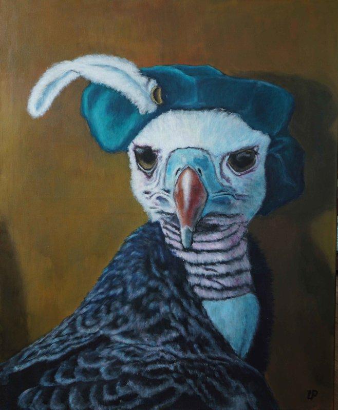 Utaellamarie Peter | The Observer | Acryl auf Leinwand | 110 × 90 cm | 2020