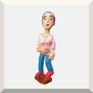 Karin Waldmann | Dora | Holz, Acryl | Höhe ca. 60 cm | 2020
