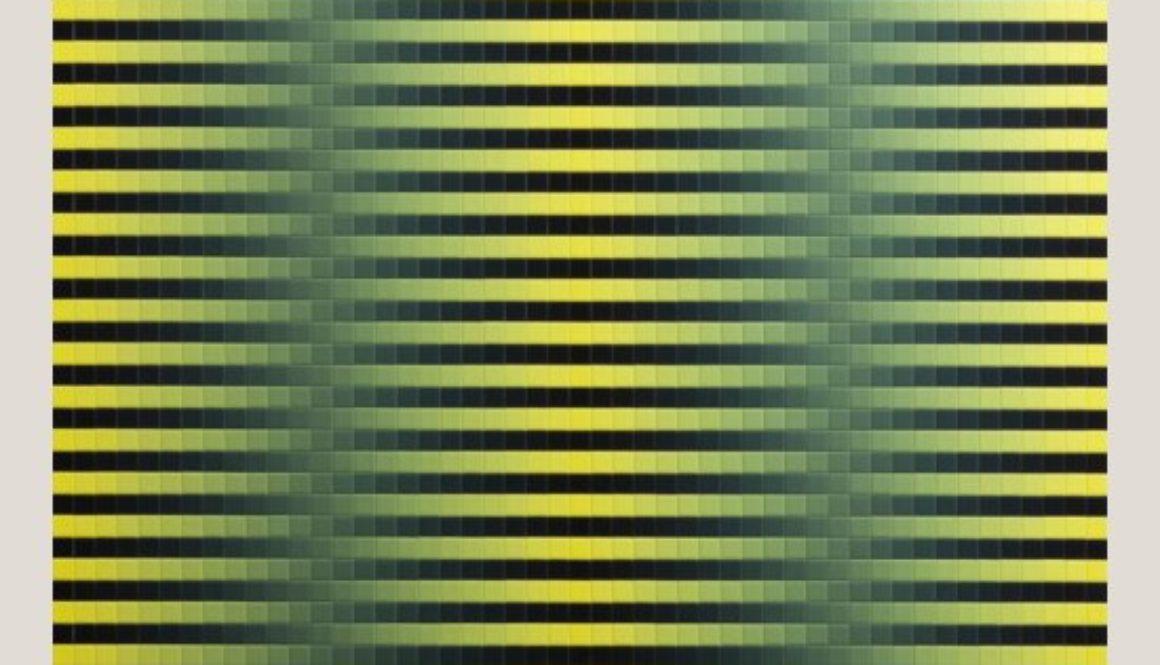 Achim Großmann | A bee, or not a bee, that is the question | Acryllack auf 2401 Buchenholzwürfeln | Nr. 6 | 99 x 99 x 8 cm | 2016