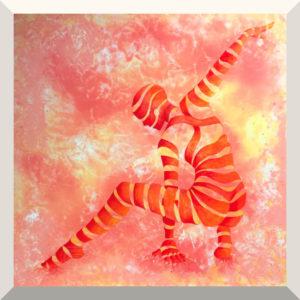 Gudrun Dorsch | Kraftvoll | Acryl auf Leinwand | 100 x 100 cm | 2019