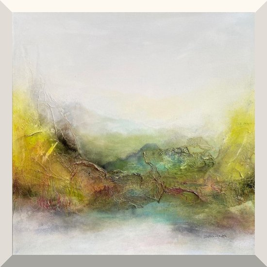 Kirsten Schankweiler | The further you go, the more you see | Mixed Media auf Leinwand | 80 x 80 cm | 2020