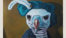 Utaellamarie Peter | The Oserver | Acryl auf Leinwand | 110 × 90 cm | 2020
