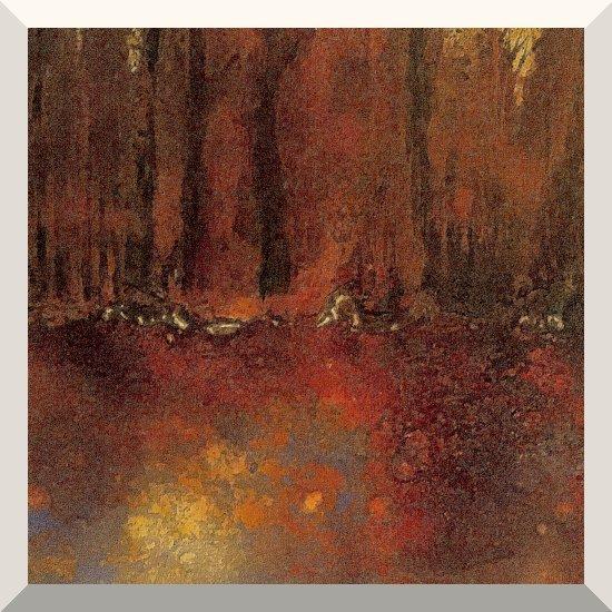 Anne Ruffert | Wald | Mischtechnik auf Leinwand | 60 x 80 cm | 2020