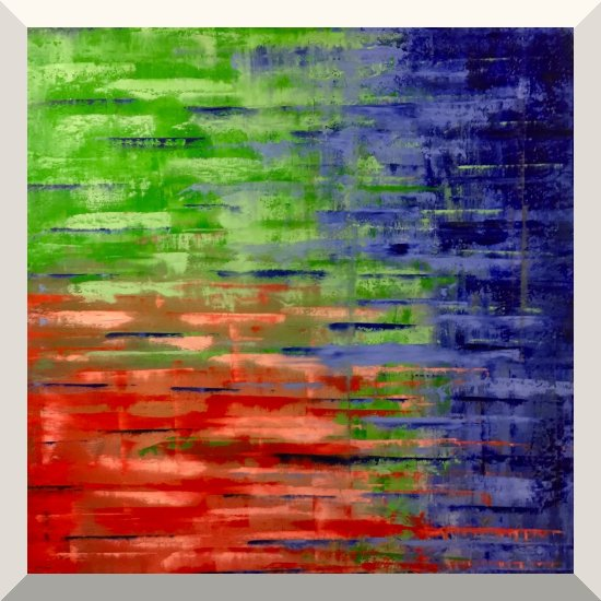 Alwin Seel | Ohne Titel | Rakeltechnik, Öl auf Leinwand | 100 x 100 cm | 2019