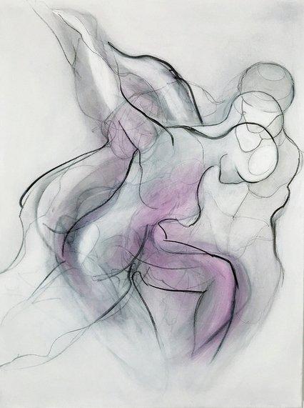 Manuela Lutz | Die Tänzerin | Acryl auf Leinwand | 80 x 60 cm | 2019