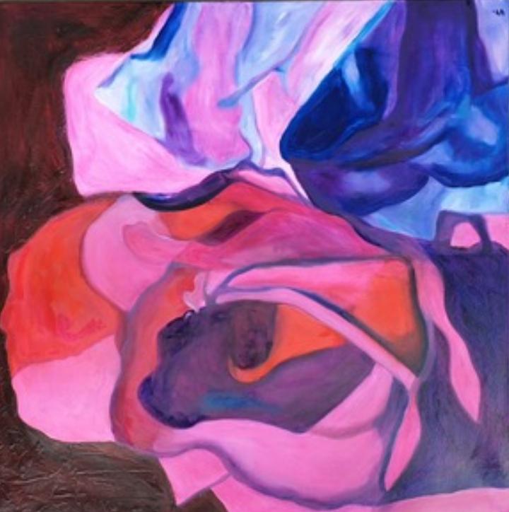 Ingrid Schiller   Rosenvariante XIX   Öl auf Leinwand   80 x 80 cm   2019