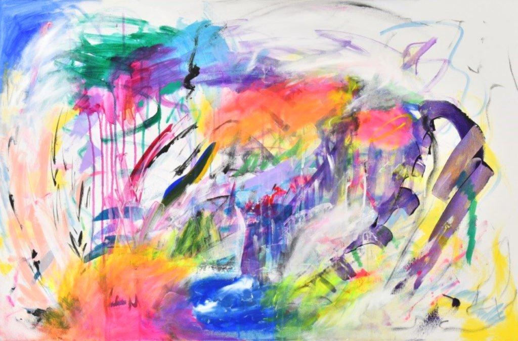 Sebastian Merk | Emotional Overload | Acryl, Marker auf Leinwand | 80 x 120 cm | 2020