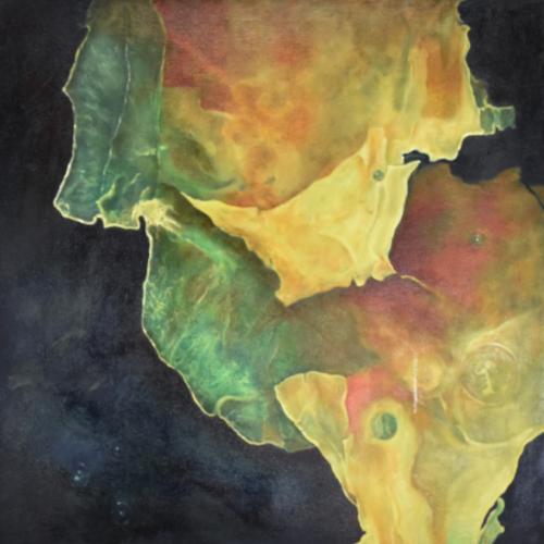Patricia Knobloch | Mesozoikum II | Öl auf Leinwand, lasiert | 60 x 60 cm | 2011