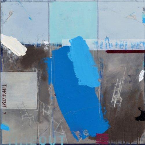 Gerhard Lämmlin | Auszeit | Mischtechnik auf Leinwand | 90 x 90 cm | 2020