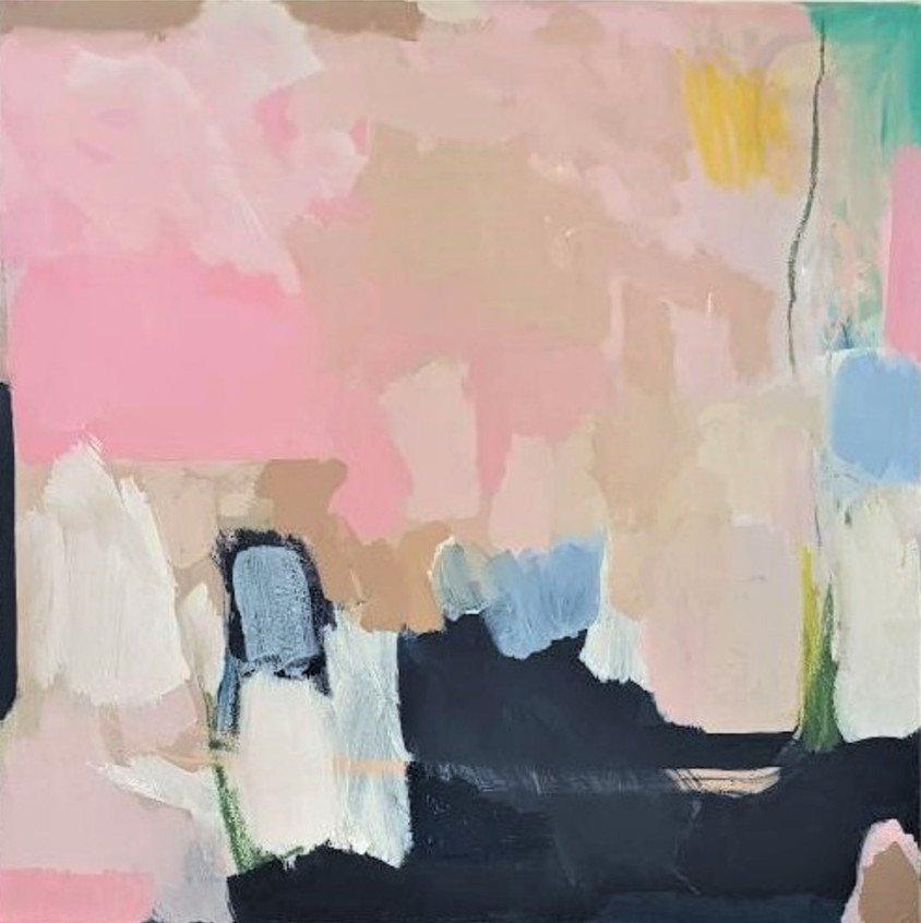 Diana Krinninger | Abstrakt | Acryl und Ölkreide auf Leinwand | 80 x 80 cm | 2020