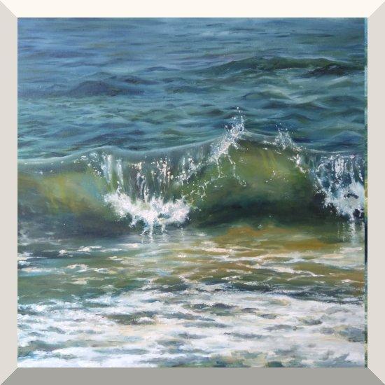 Kateryna Shcherbyna | Delight | Öl auf Leinwand | 50 x 50 cm | 2019