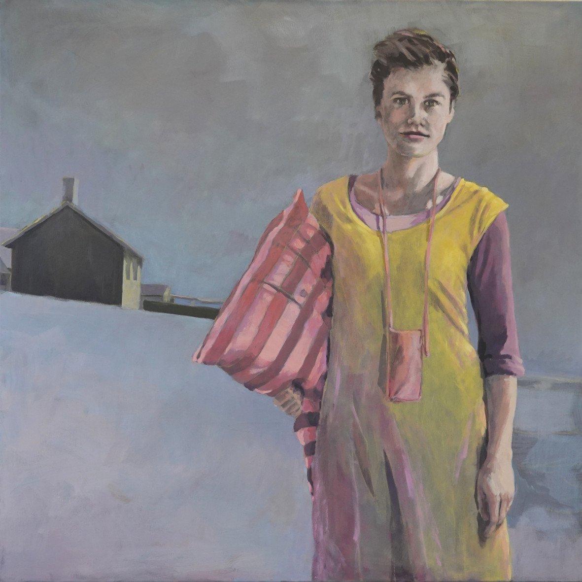 Margot Kupferschmidt | Federleicht | Acryl auf Leinwand | 100 x 100 cm | 2020