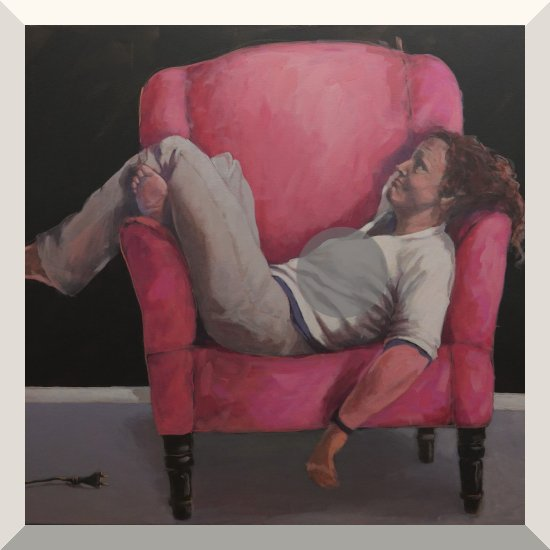 Margot Kupferschmidt | Home Office | Acryl auf Leinwand | 100 x 120 cm | 2020